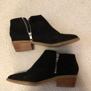 Super cute J-Crew black booties